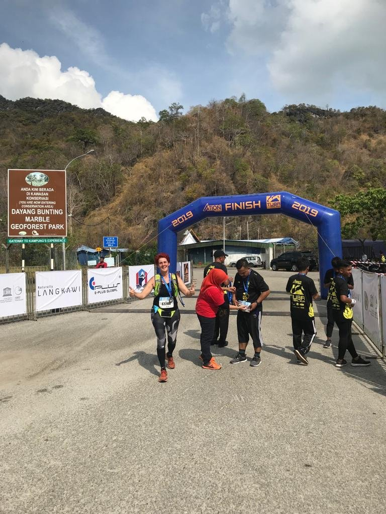 Fellow Langkawian, Tanja Bindemann of Red Tomato, also passed the finishing line of the Tuba Trail 2019.