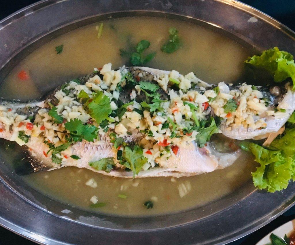 steam fish at Kedai Simpang, late night place to eat in Langkawi
