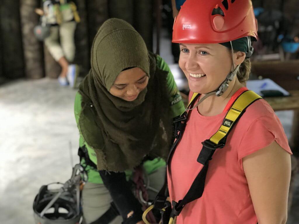 Gearing up for Umgawa Langkawi Eco Zipline Adventure