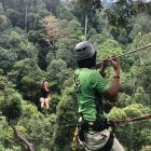 Zipping on Umgawa Langkawi Eco Zipline