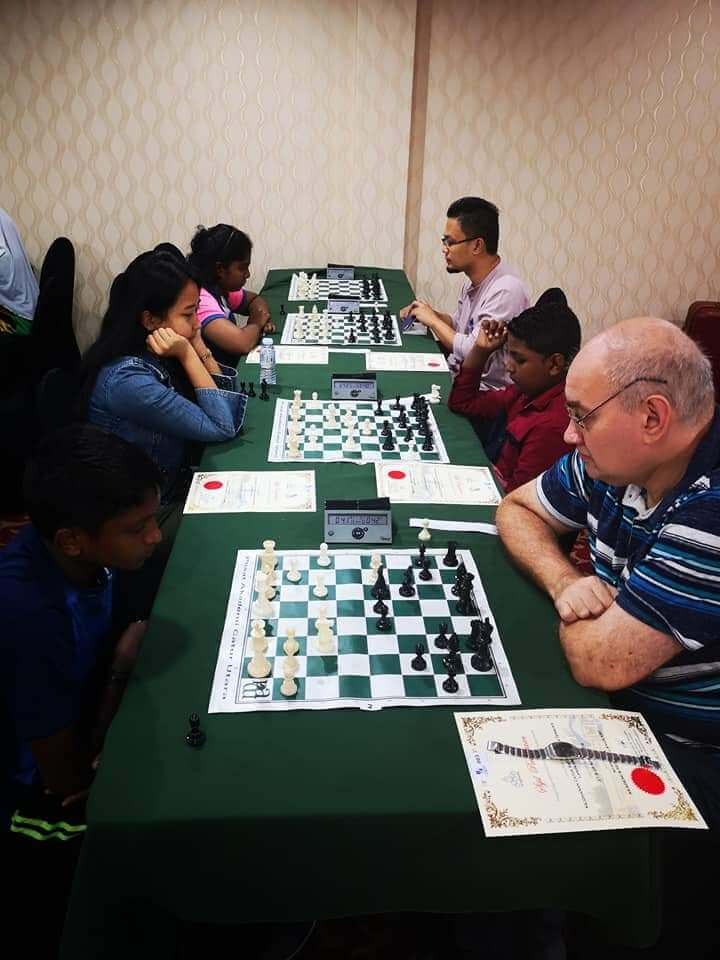 Even the young ones are willing to challenge the adults for chess prominence.