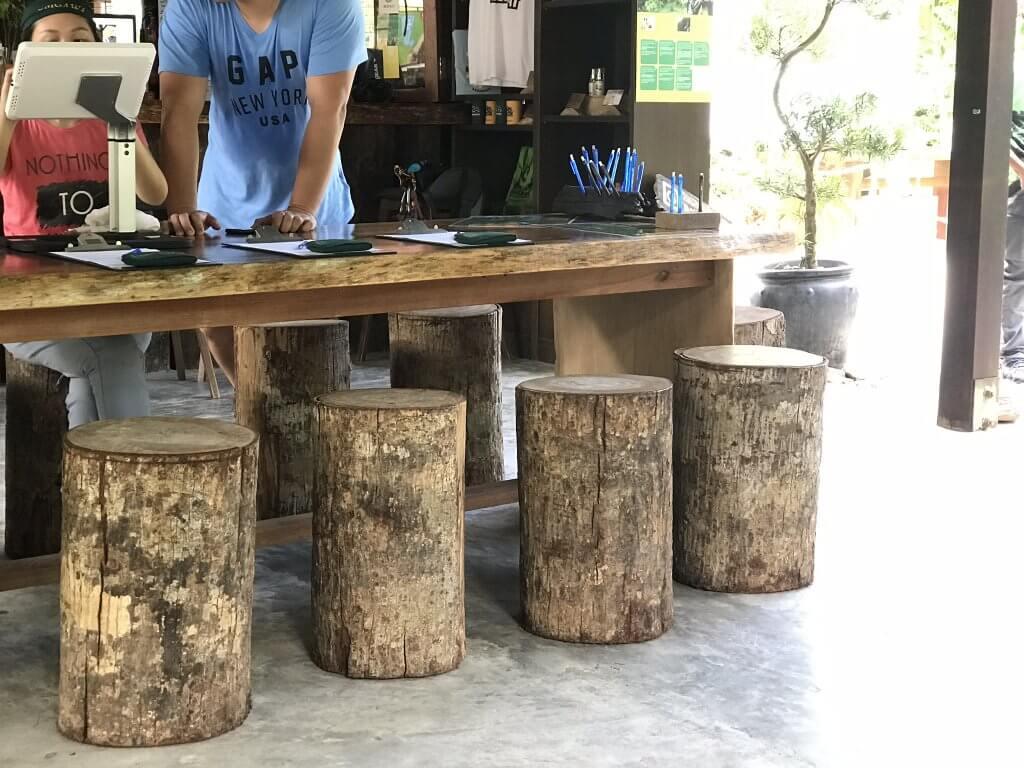 Umgawa Langkawi Eco Zipline Adventure visitors centre repurposed logs